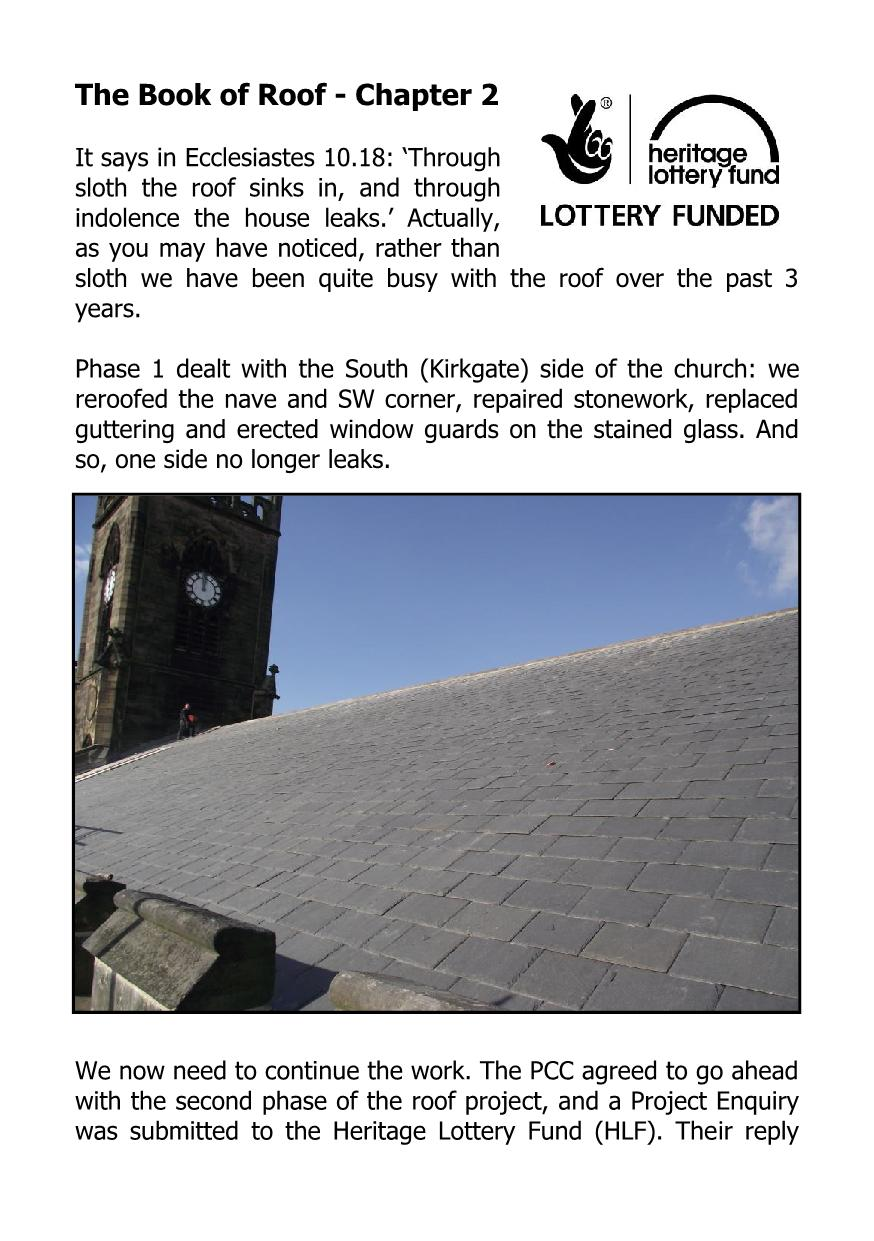 Roof Project - St Paul's Parish Church, Shipley